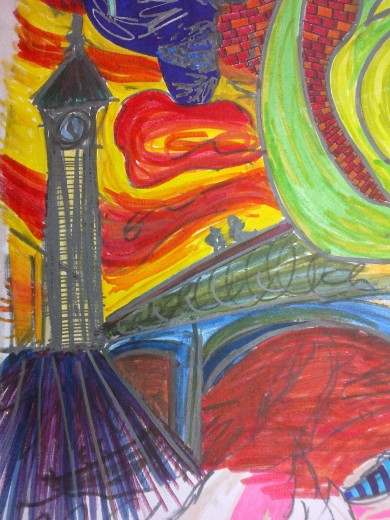 little munch-like cover of a previous linear drawing of Big Ben I did in the Million Minutes project in Archway, while colaborating with Ivan Liotchev | 2012 more info at: http://www.amillionminutes.org/projects/Ivan-Liotchev/